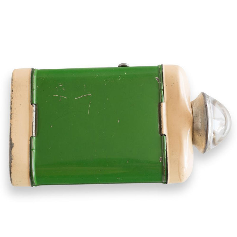Swedish Green Tole Flashlight, Circa 1940