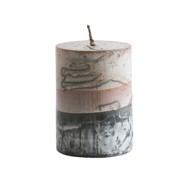 Tar Pillar Candle Grey Eleish Van Breems Home