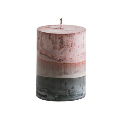 Tar Pillar Candle Red Stripe Eleish Van Breems Home