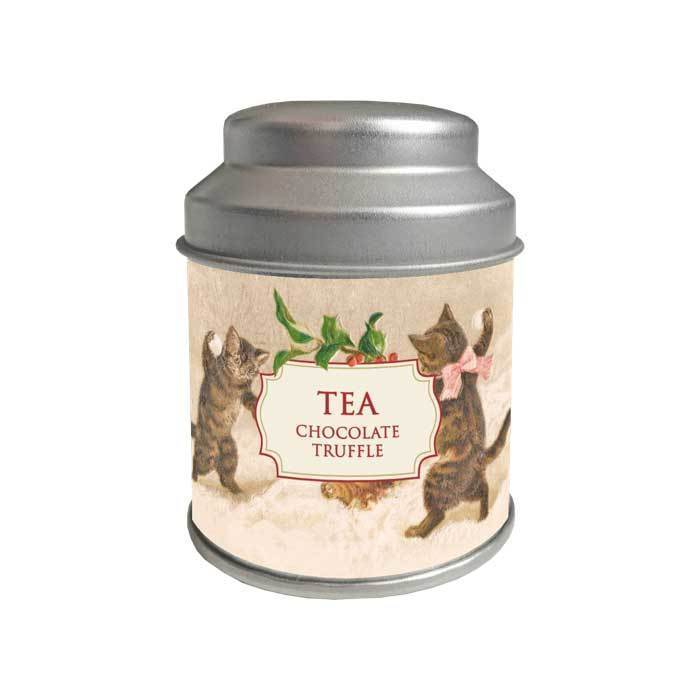 Tea in Holiday Gift Tin Kitten Tin Eleish Van Breems Home