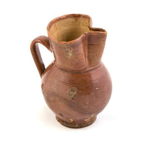 Terra Cotta Pinched Pitcher
