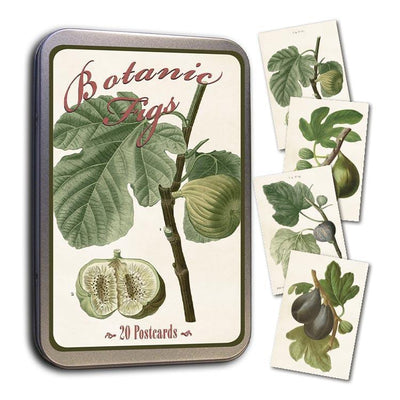 Tin with 20 postcards-Fig Botanicals-Eleish Van Breems Home