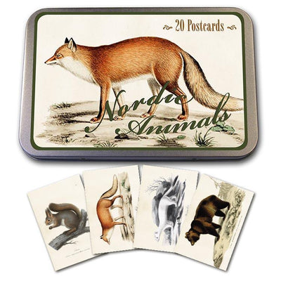 Tin with 20 postcards-Nordic Animals-Eleish Van Breems Home