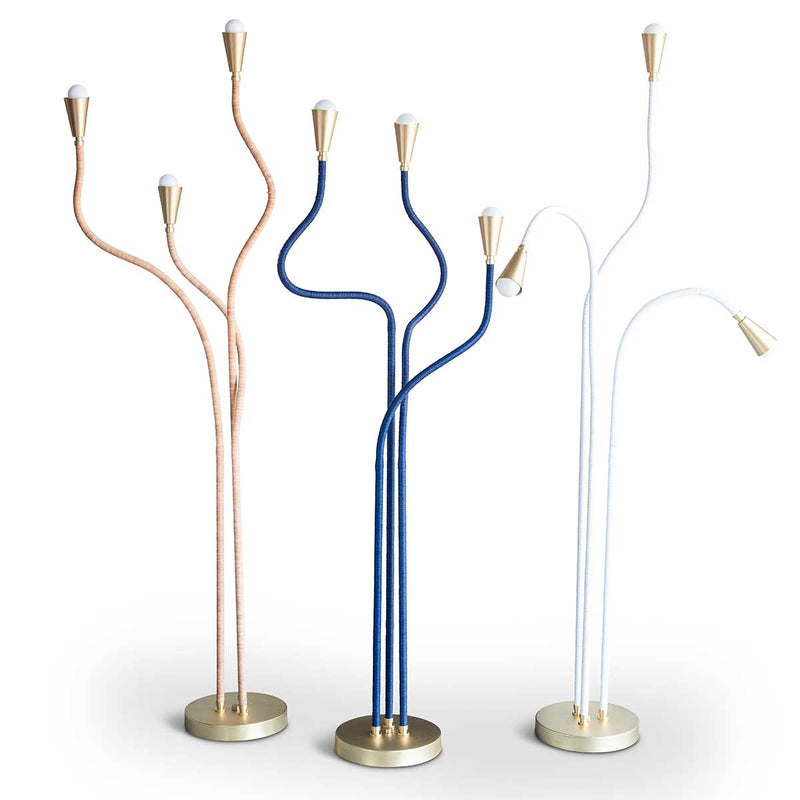 Trident Floor Lamp for Eleish Van Breems Navy Eleish Van Breems Home