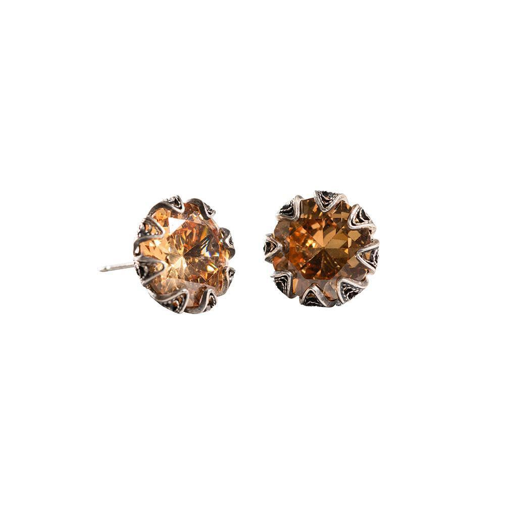 Tulip Citrine Post 12mm Earrings