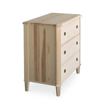 Tullgarn Gustavian Three Drawer Chest Natural Eleish Van Breems Home