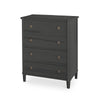 Tullgarn Tall Gustavian Four Drawer Chest Rococo Black Eleish Van Breems Home