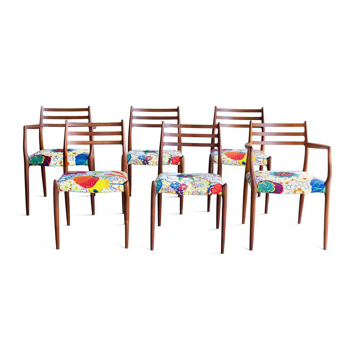 Vintage Moller Dining Chairs Set