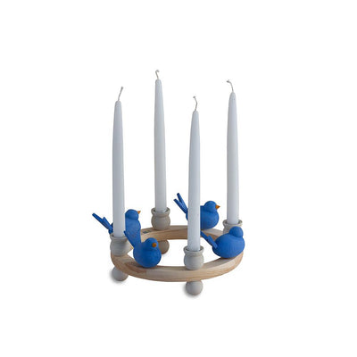 Wooden Candle Ring Centerpiece-Eleish Van Breems Home
