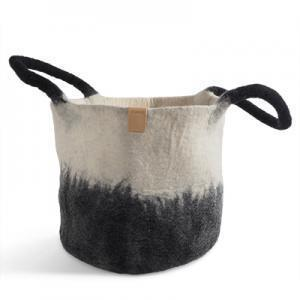 Wool Basket Black/White Eleish Van Breems Home
