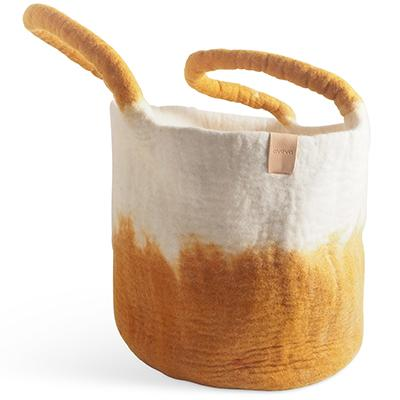 Wool Basket Mustard Eleish Van Breems Home