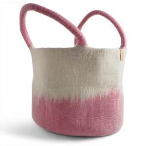 Wool Basket Pink Eleish Van Breems Home