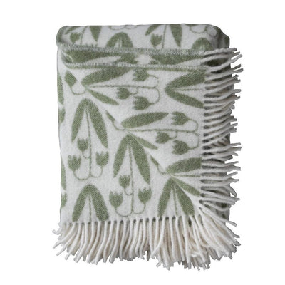 Wool Blanket-Green/FloralLinnea-Eleish Van Breems Home
