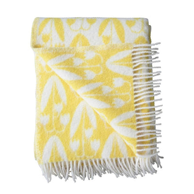 Wool Blanket-Yellow/FloralLinnea-Eleish Van Breems Home