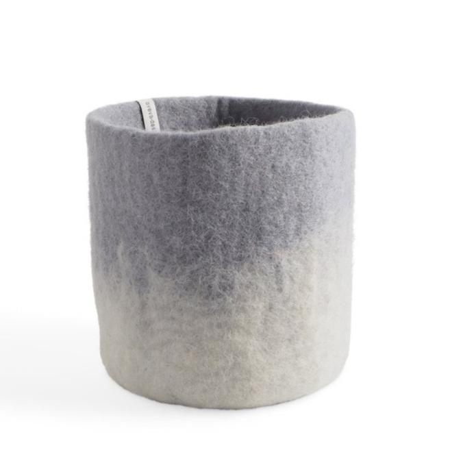 Wool Cylinder Flower Pot Medium Concrete Eleish Van Breems Home