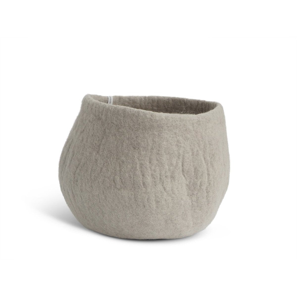 Wool Flower Pot Large Grey Eleish Van Breems Home