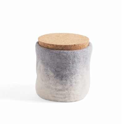Wool Jar with Cork Lid Concrete Eleish Van Breems Home