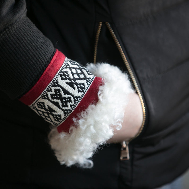Wool Wrist Warmers Red Band Eleish Van Breems Home