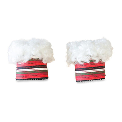Wool Wrist Warmers Red White Stripe Band Eleish Van Breems Home