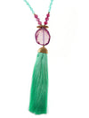 ARIEL TASSEL NECKLACE - Kaia London