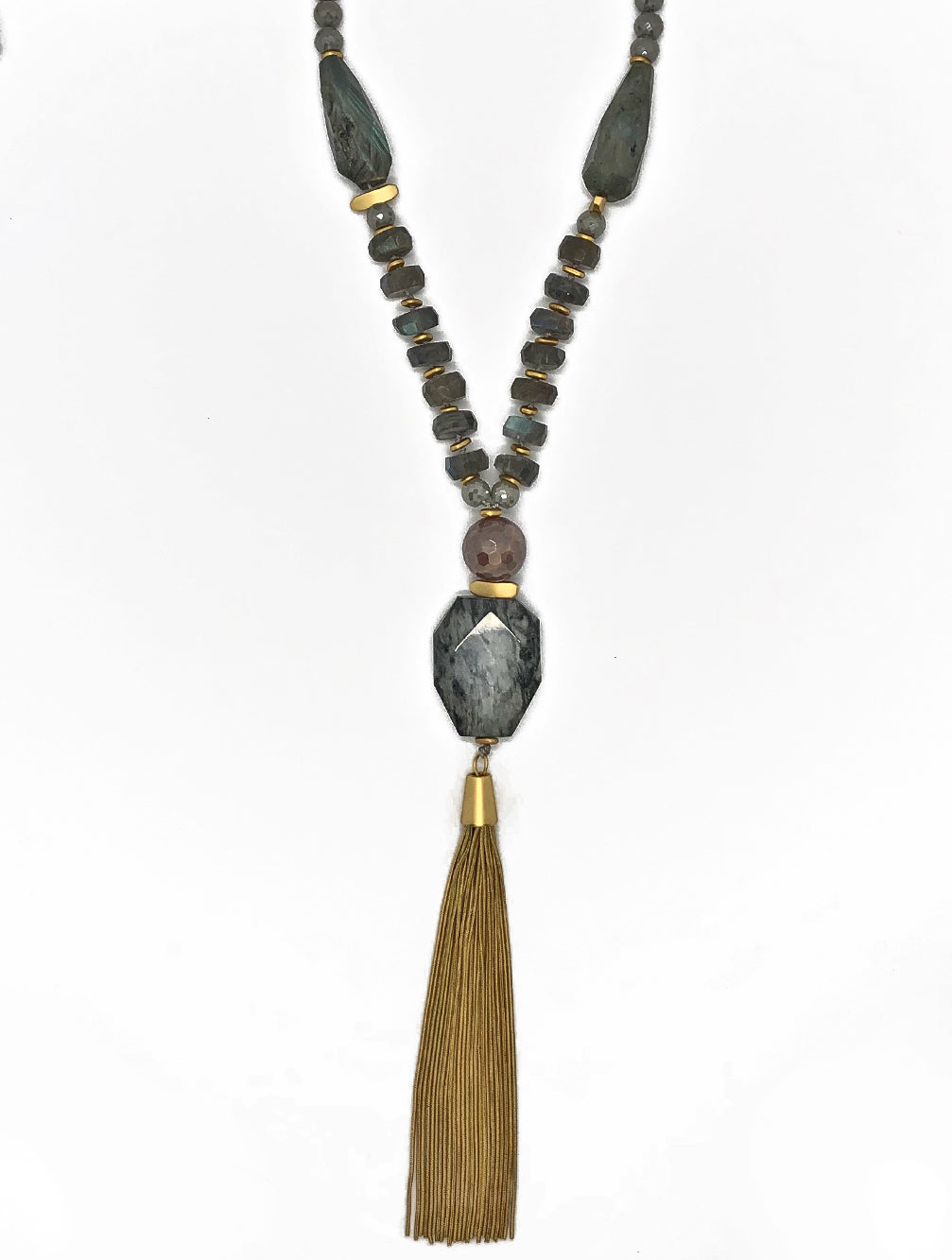 KANSAS GOLD TASSEL NECKLACE - Kaia London