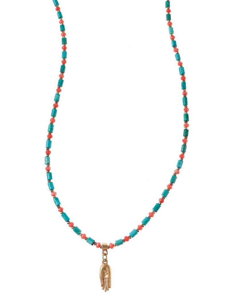 PACHA PALM NECKLACE - Kaia London