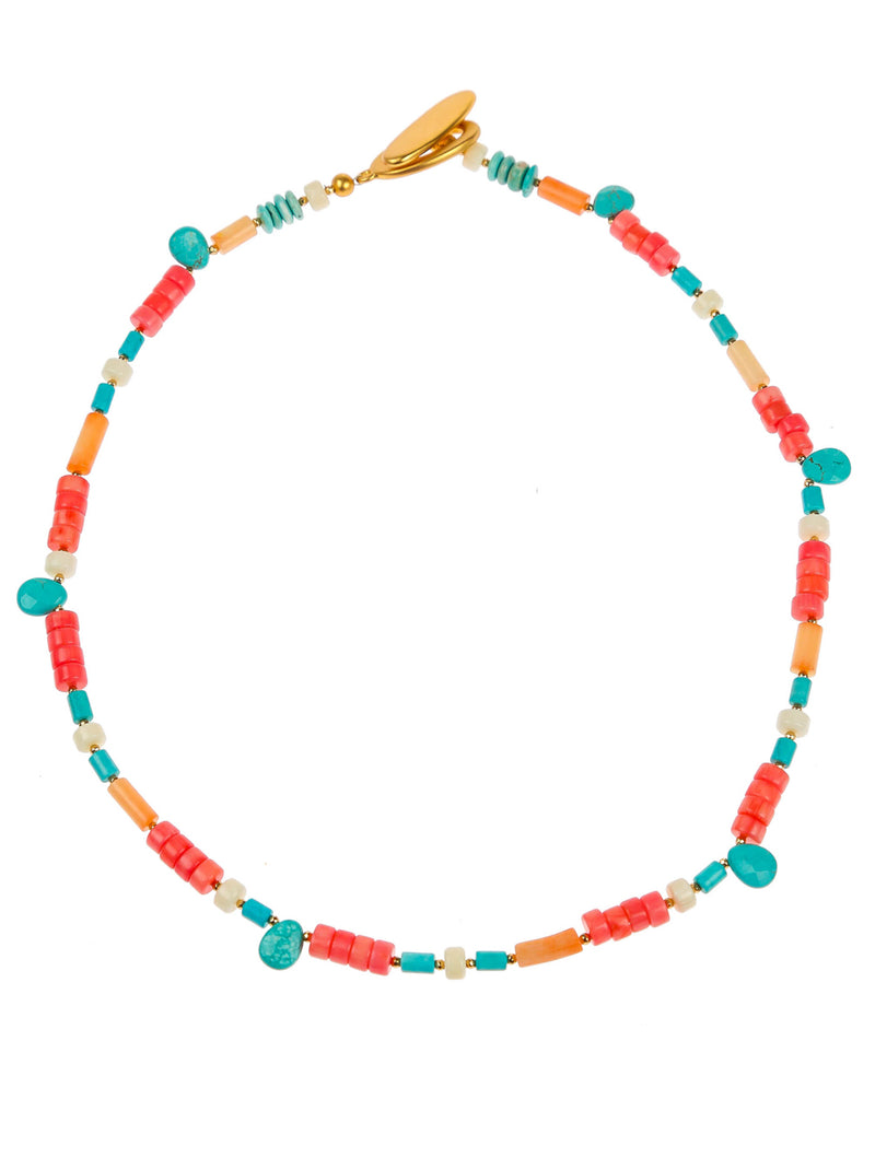 SOOKIE CORAL CHOKER - Kaia London
