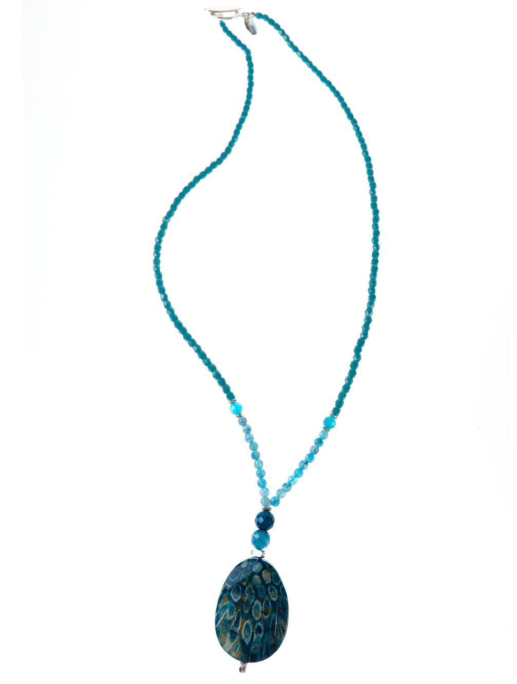ST LUCIA STONE NECKLACE - Kaia London