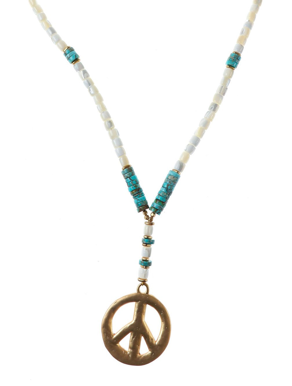 TAHITI CREAM PEACE NECKLACE - Kaia London