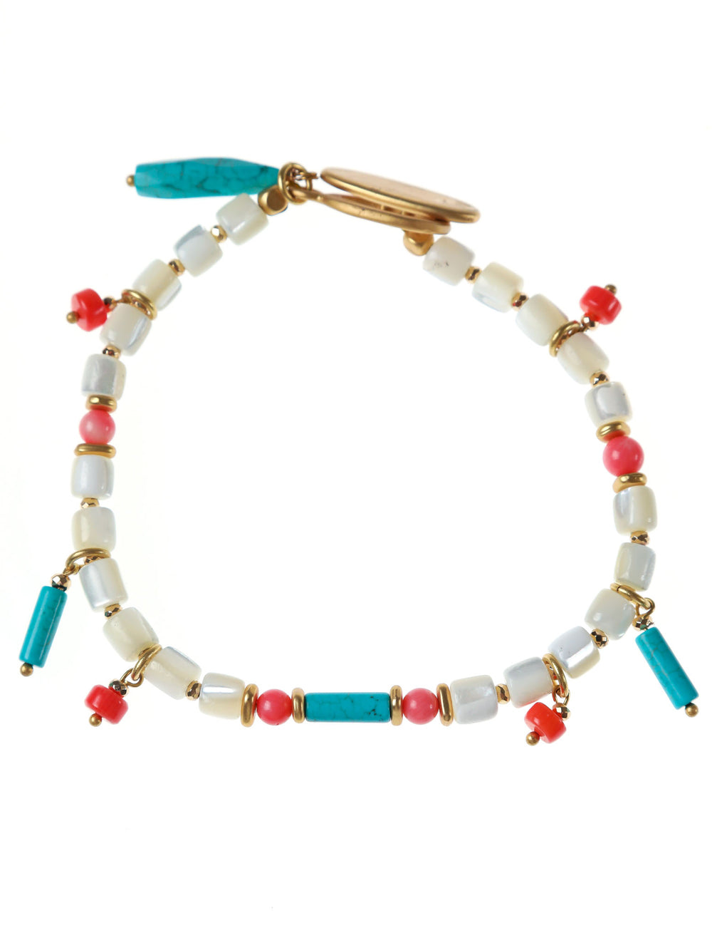 TAHITI MULTI SHELL ANKLET - Kaia London
