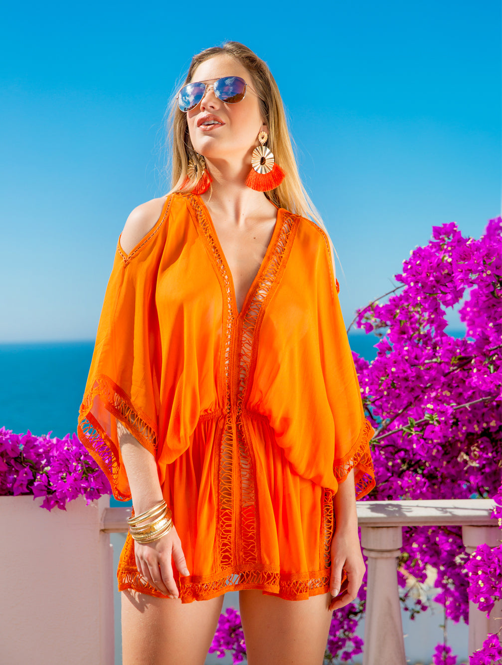 MYKONOS KAFTAN - Kaia London