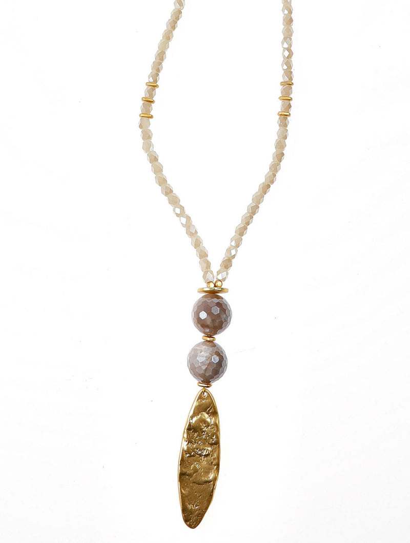 BETSY GOLD OVAL NECKLACE - Kaia London