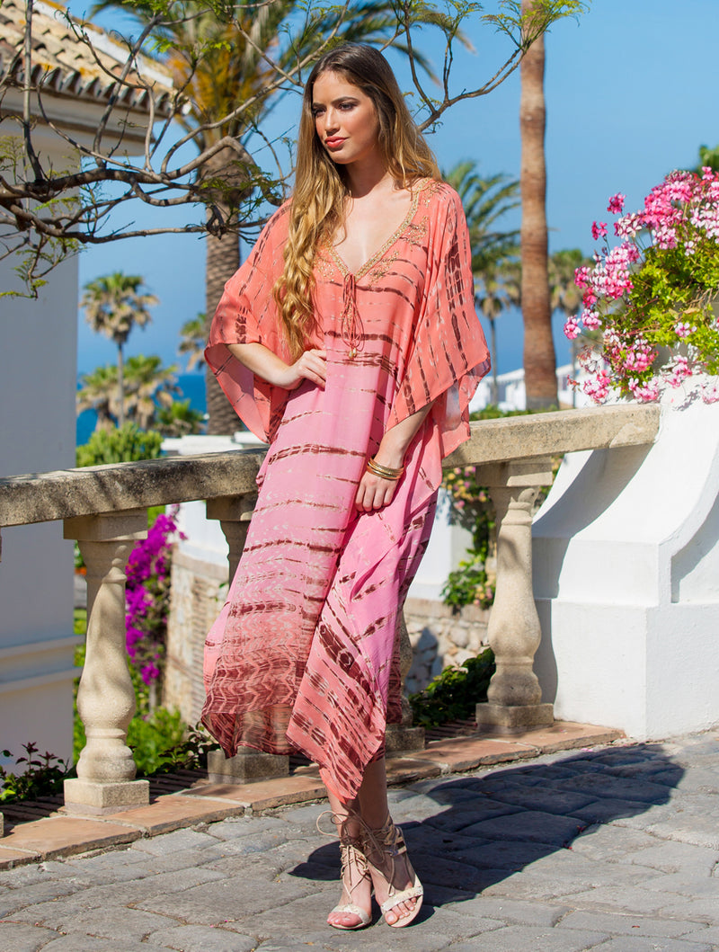 AURORA MAXI KAFTAN - Kaia London