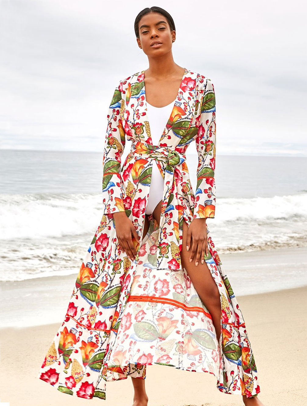 JUNGLE MAXI ROBE - Kaia London