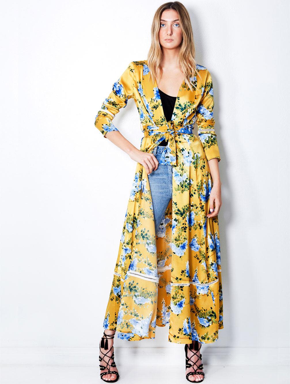WALL FLOWER MAXI ROBE - Kaia London