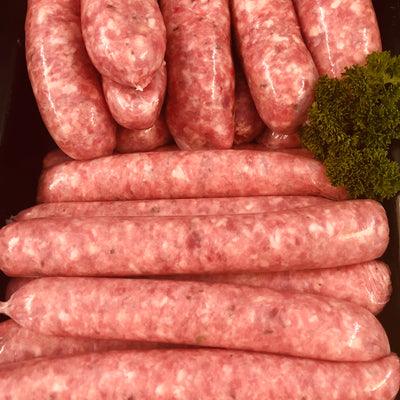 Bacon and Tomato Beef Sausages (per kg)