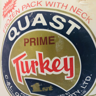 Turkey Whole Size 3.6kg(Frozen) (each)