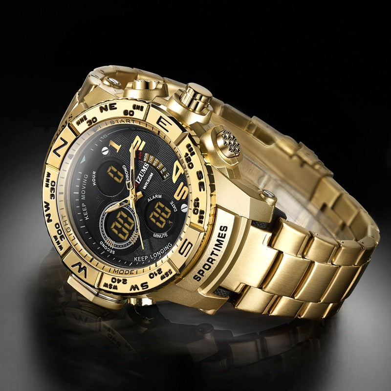 Mercury Waterproof Gold Watch