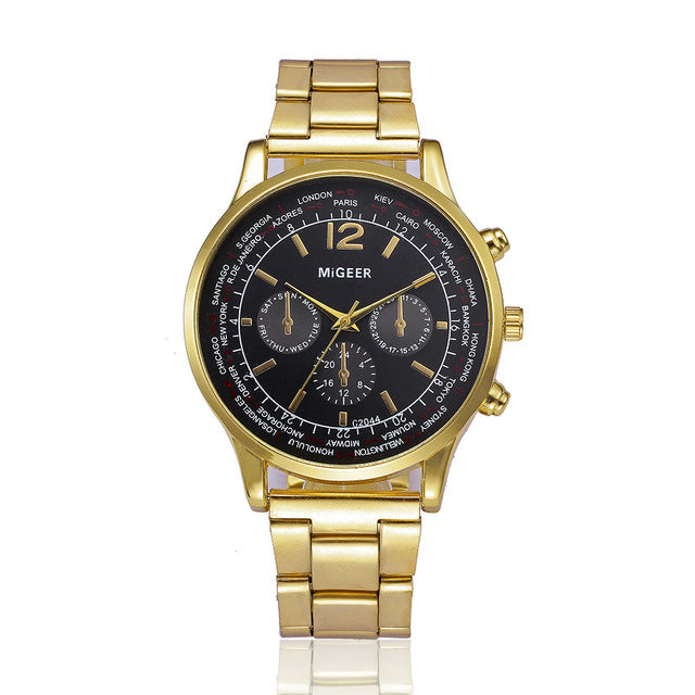 Shadow Gold Stainless Steel Watch