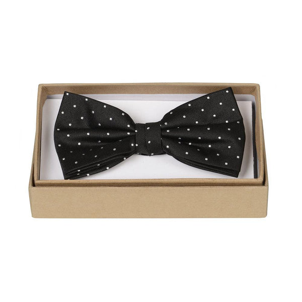 Black and White Polka Bow Silk Bow Ties ortc | MAN