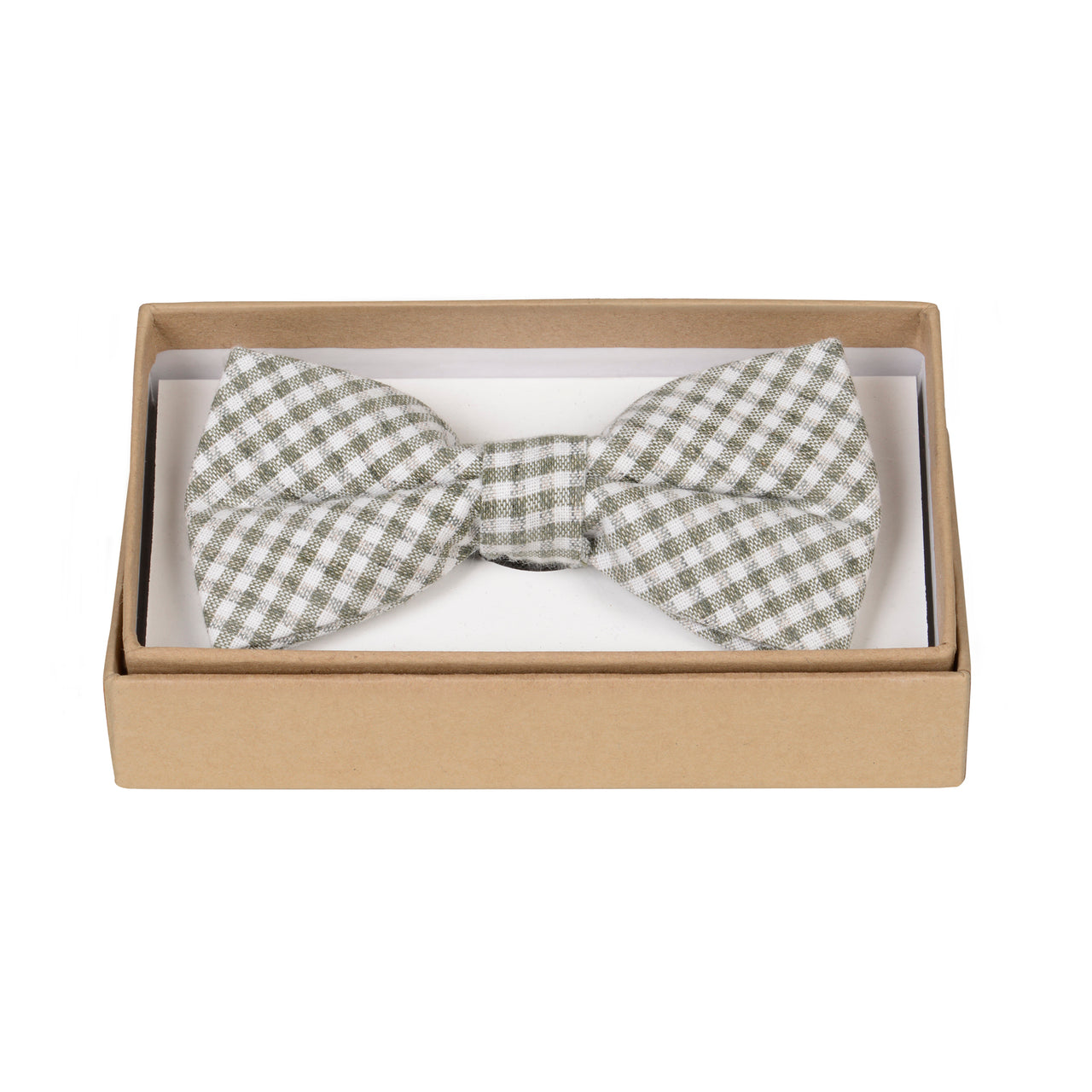 The Olive Check Bow