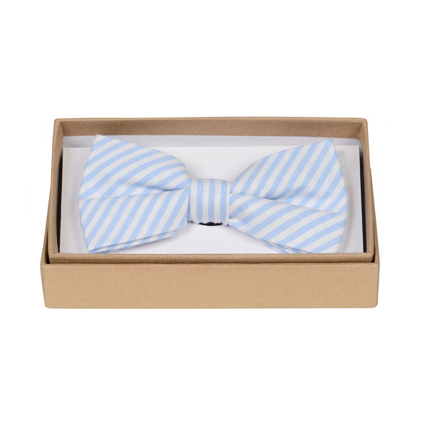 Baby Blue Stripe Bow