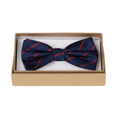 Thin Red Stripe Bow