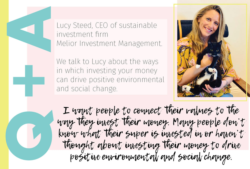 My Reusable Life: Lucy Steed, CEO of sustainable investment firm Melior Investment Management