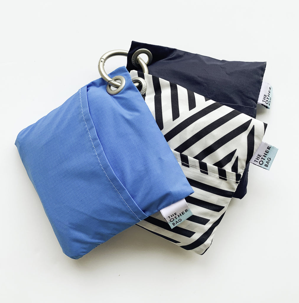 Bondi blue foldable tote bag bundle