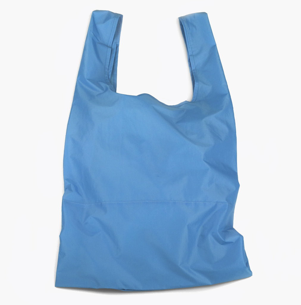 bondi blue foldable sustainable tote bag