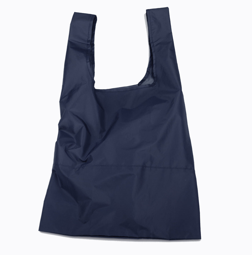 Navy Econyl foldable tote