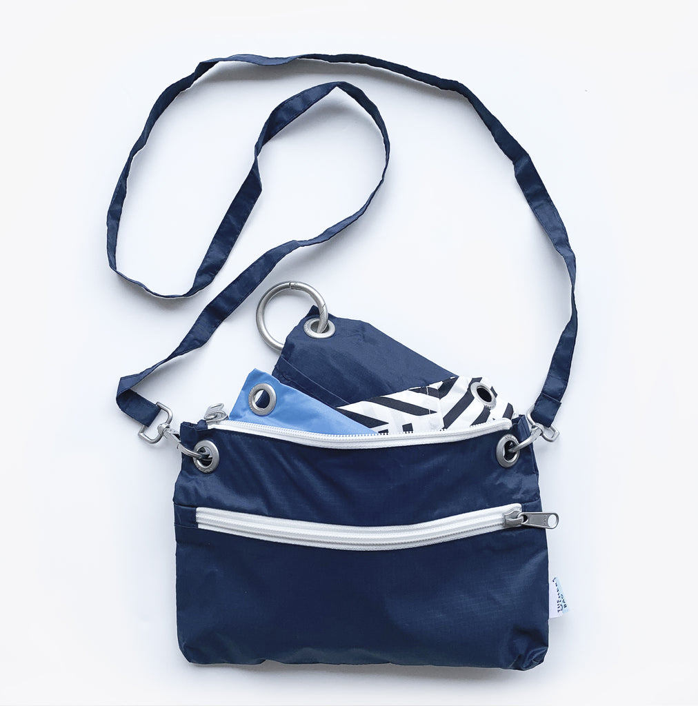 Crossbody bag and tote bags navy bundle