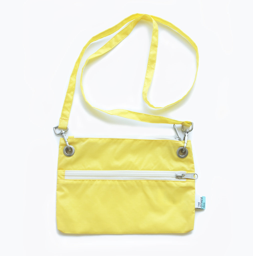 yellow sustainable eco friendly zip pouch