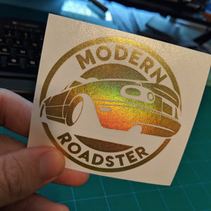 Modern Roadster Vinyl Decal